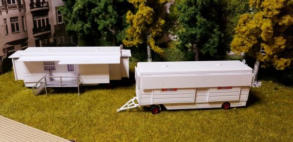 Bausaz Wohnwagen mit Ausziehbare Erker NR: 2