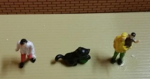 Deko Figur Kleine Katze Schwarz