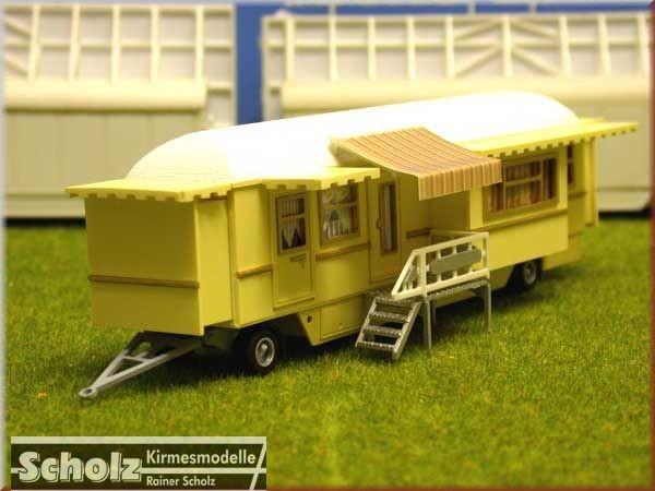 Bausatz Wohnwagen mit Tonnendach und 4 Erker