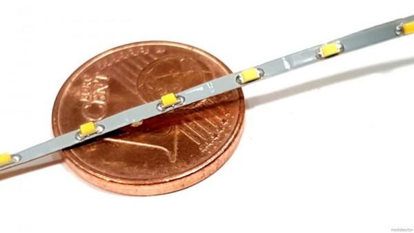 SMD-LED Strip super slim warmweiß 1,5mm breit Lötanschluss